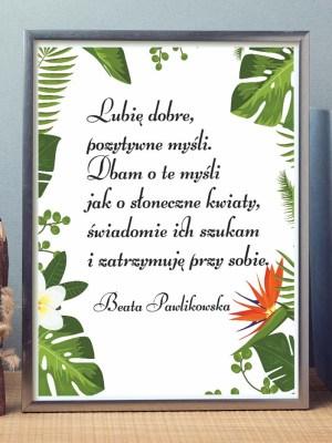 Afirmacja na ścianę Beata Pawlikowska