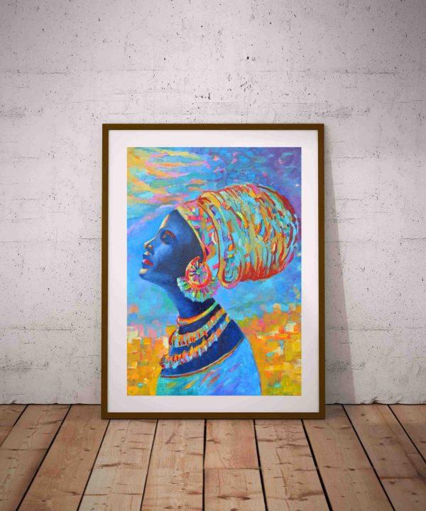 plakat z motywem afrykanskim