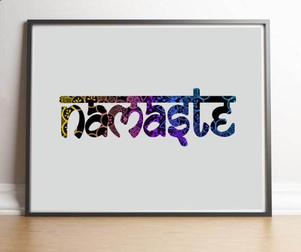 plakat joga Namaste