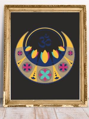 Plakat Mandala na ścianę i mantra Om