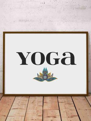 Plakat joga - plakat typograficzny na ścianę dla miłośników jogi