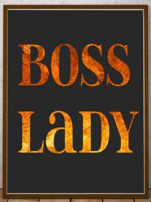 Biurowy plakat ścienny Boss Lady