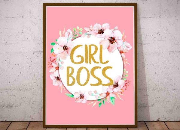 Plakat Girl Boss plakaty dla nastolatków