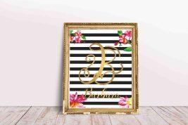 0436_Plakat z imieniem dziecka do pobrania litera B Barbara
