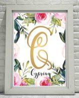 CYPRIAN Obraz z imieniem dla chłopca do wydruku na ścianę