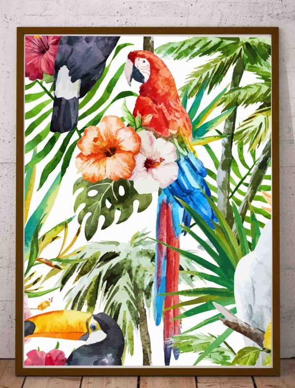 Plakat dżungla grafika na ścianę do druku