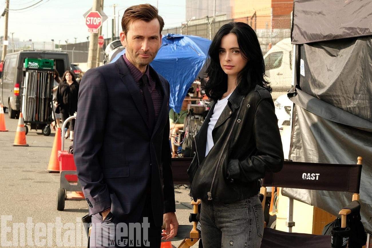 David Tennant (Kilgrave) & Krysten Ritter (Jessica Jones).