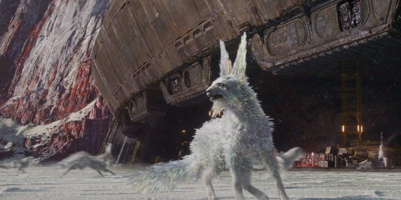 Un Vulptex, un des renards de cristal (Vulptices) de Star Wars VIII : Les Derniers Jedi