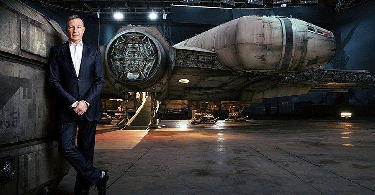Bob Iger sur le plateau de Star Wars