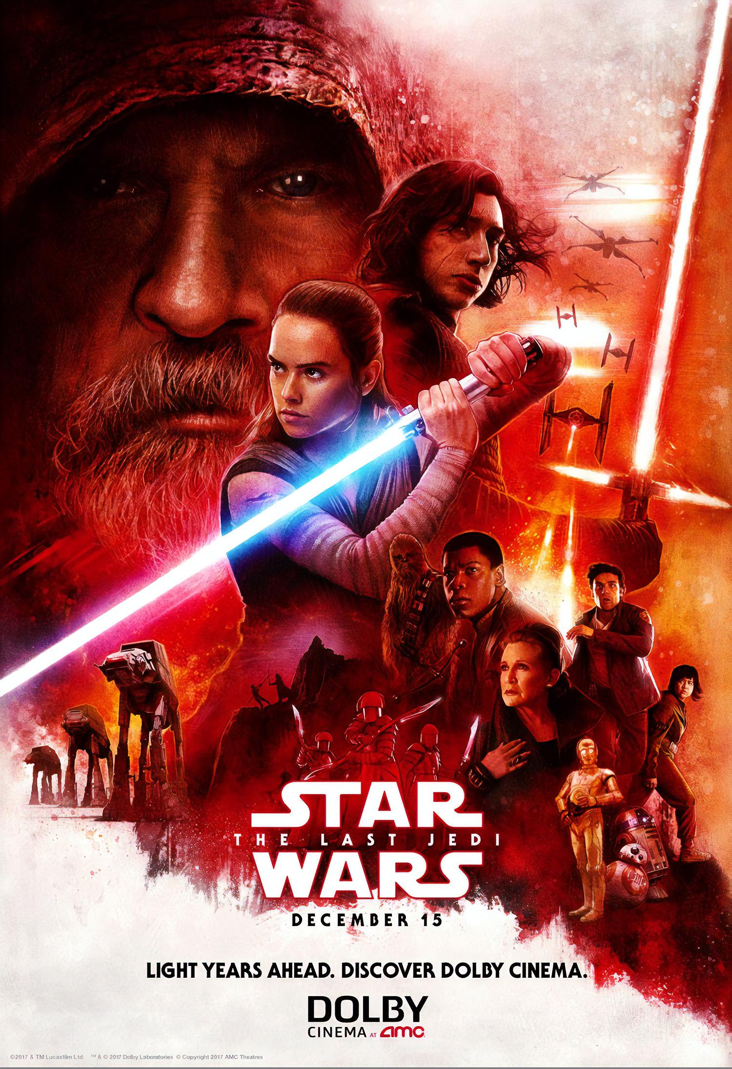 Trois nouveaux spots Star Wars VIII : Les Derniers Jedi (affiche de Paul Shipper)