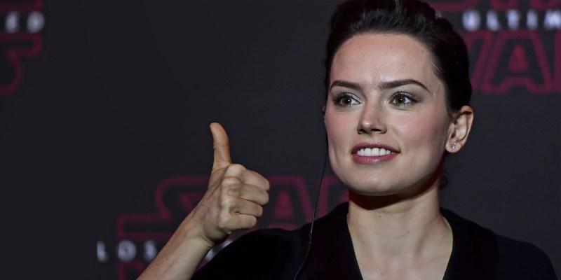 Daisy Ridley, interprète de Rey dans Star Wars 8 : Les Derniers Jedi