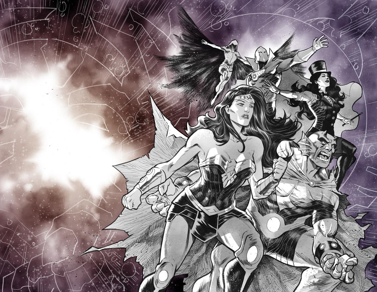 Justice League: No Justice #3 avec la team Wonder, cover par Francis Manapul