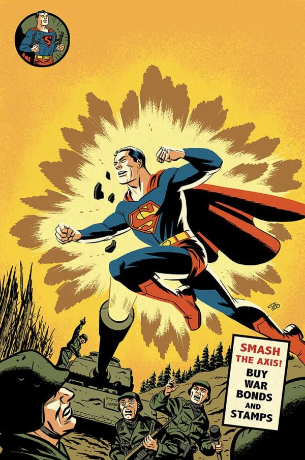 ACTION COMICS #1000 1940s - couverture variante par Michael Cho