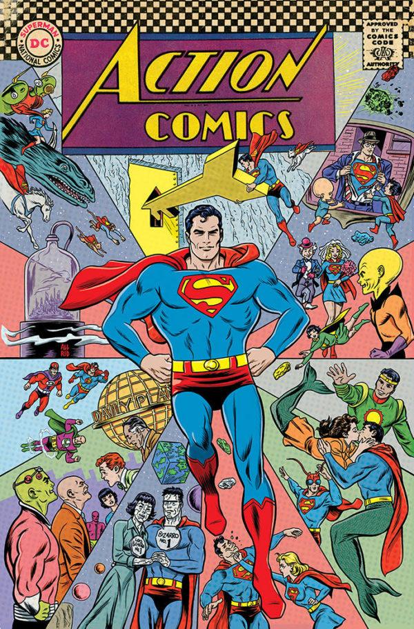 ACTION COMICS #1000 1960s - couverture variante par Michael Allred