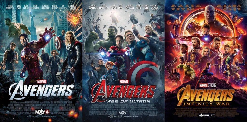 Avengers 1, 2 et 3