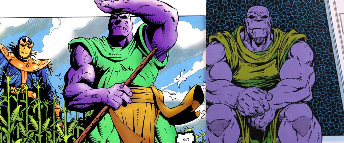 Thanos prend sa retraite dans Infinity Gauntlet