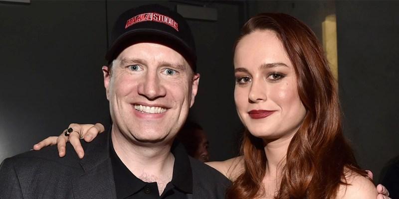 Kevin Feige et Brie Larson pour Captain Marvel