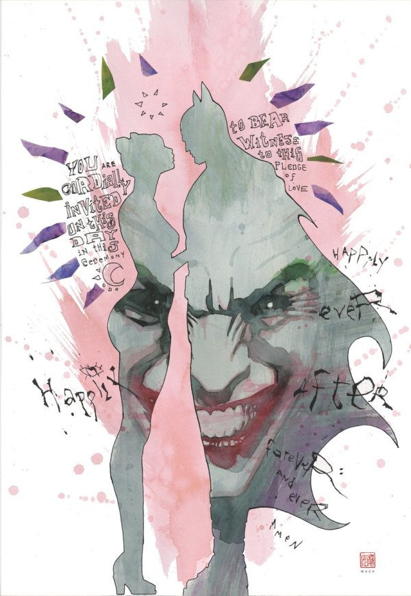 Batman #50, couverture alternative de David Mack