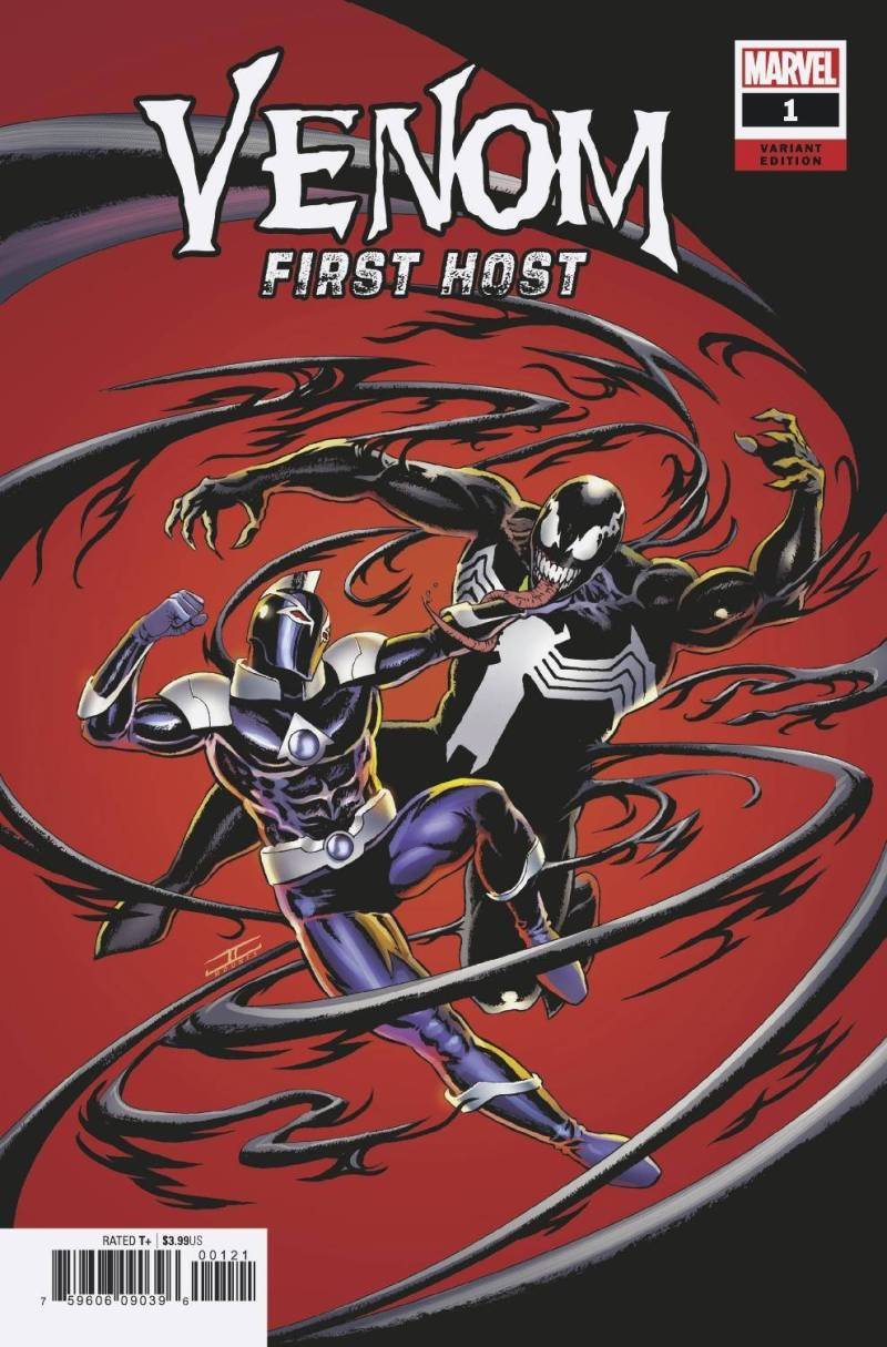 Venom First Host #1, variant cover de John Cassaday (Marvel Comics)