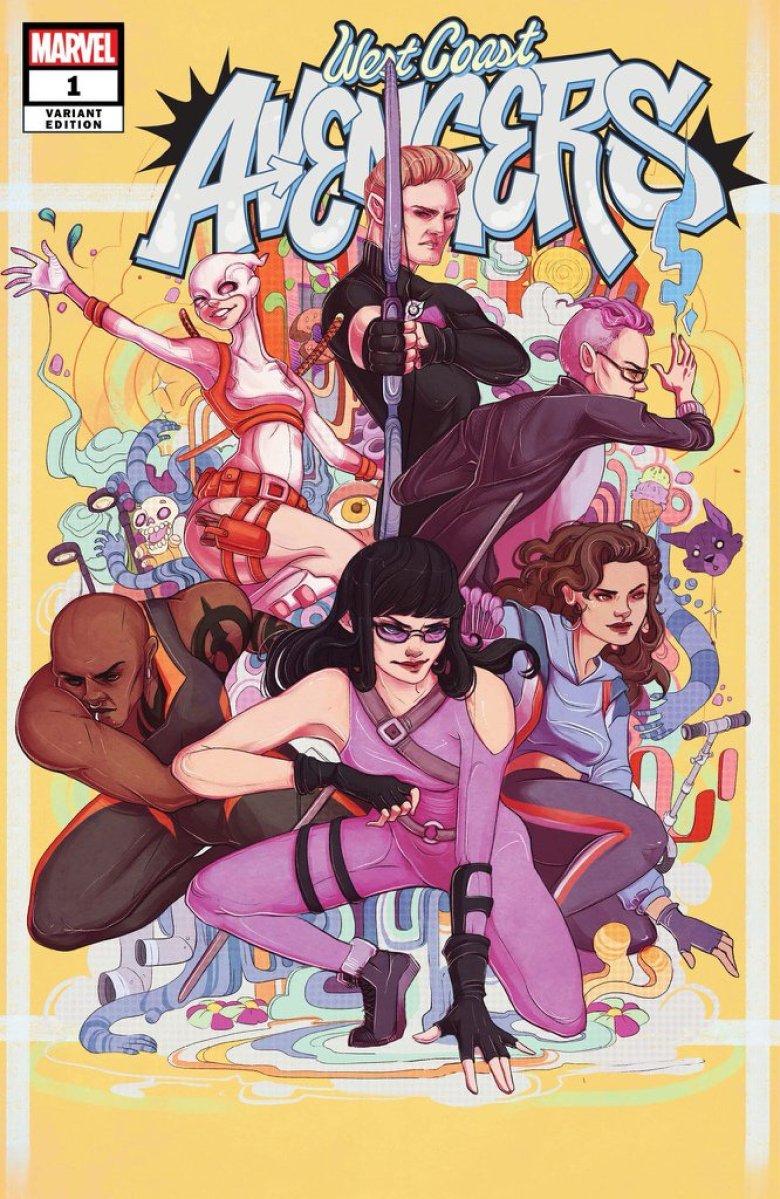 West Coast Avengers #1, la couverture alternative par Lauren Tsai.