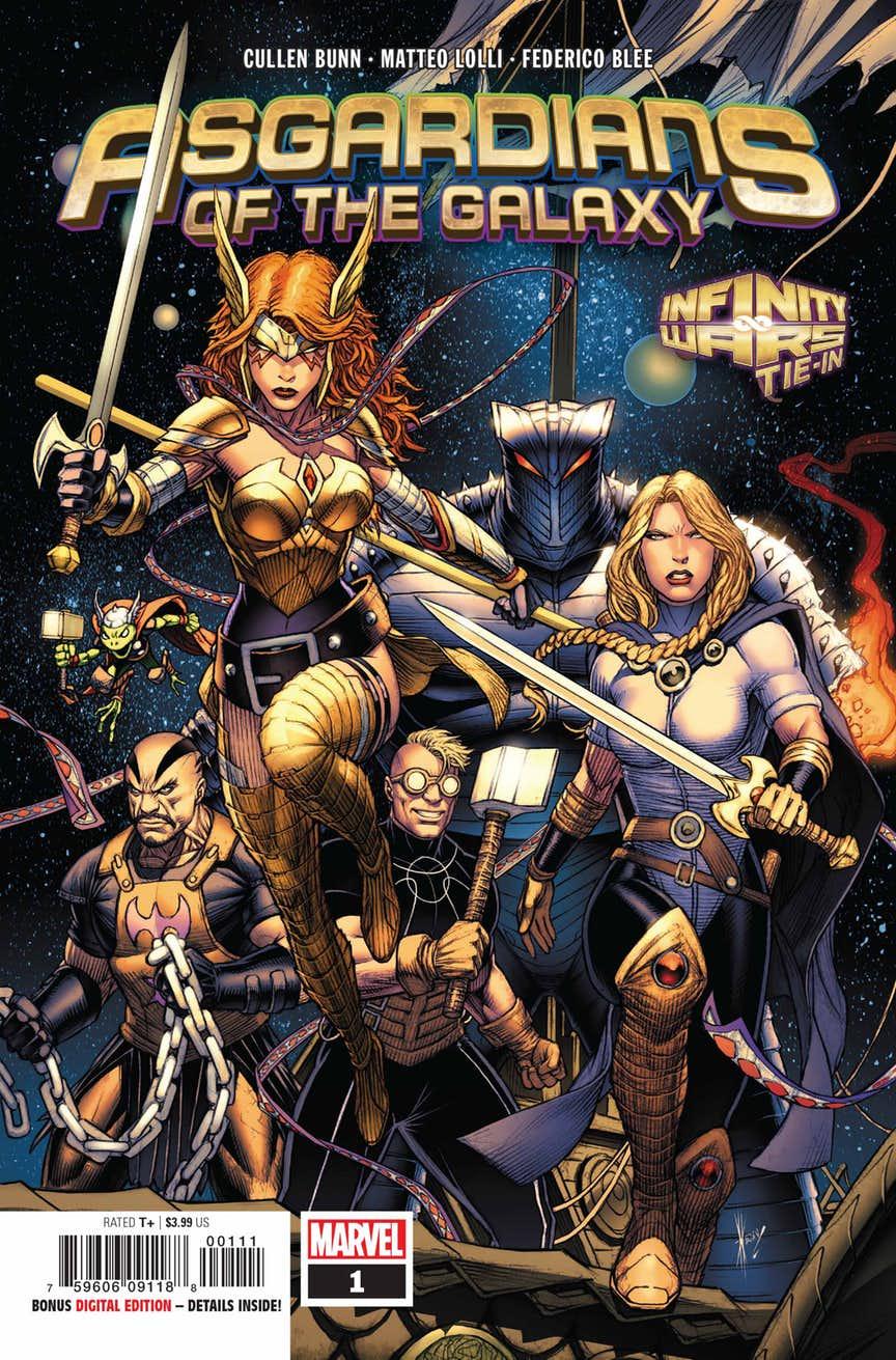 Asgardians of the Galaxy #1, couverture de Dale Keown