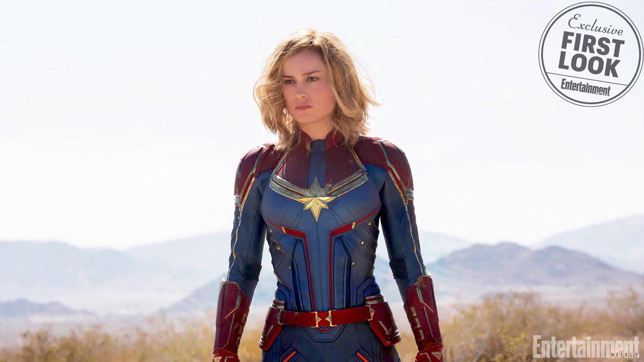 Captain Marvel (Brie Larson) dans le magazine EW