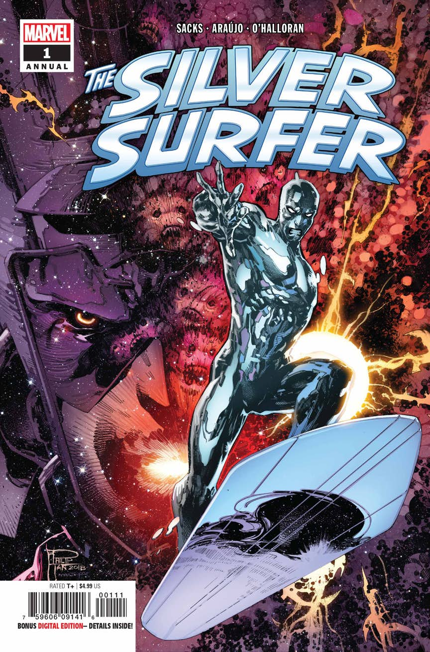 Silver Surfer Annual #1, couverture de Phillip Tan