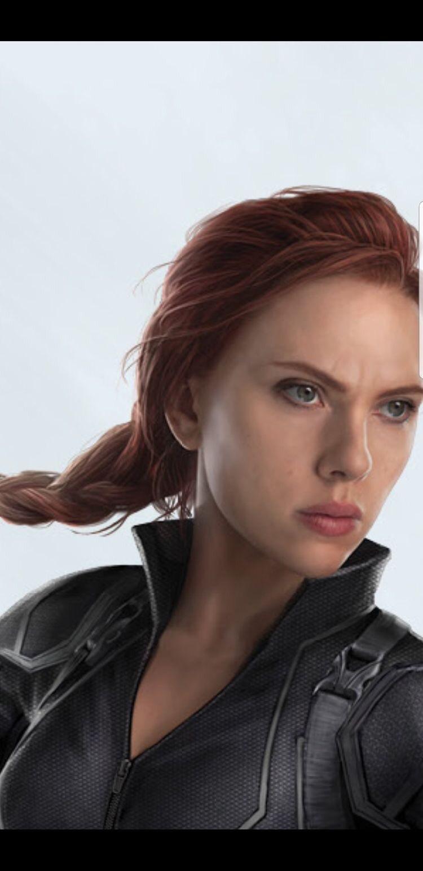 Black Widow (Scarlett Johanson) sur une image promotionnelle d'Avengers 4.