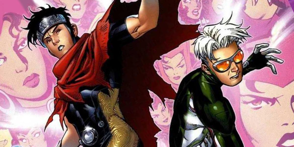 Wiccan et Speed, les enfants de Scarlet Witch et Vision, membres des Young Avengers