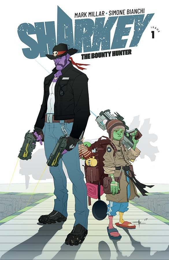 Sharkey the Bounty Hunter, couverture alternative de Matteo Scalera