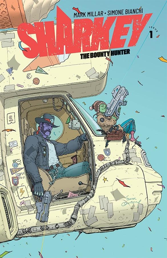 Sharkey the Bounty Hunter, couverture alternative de Frank Quitely