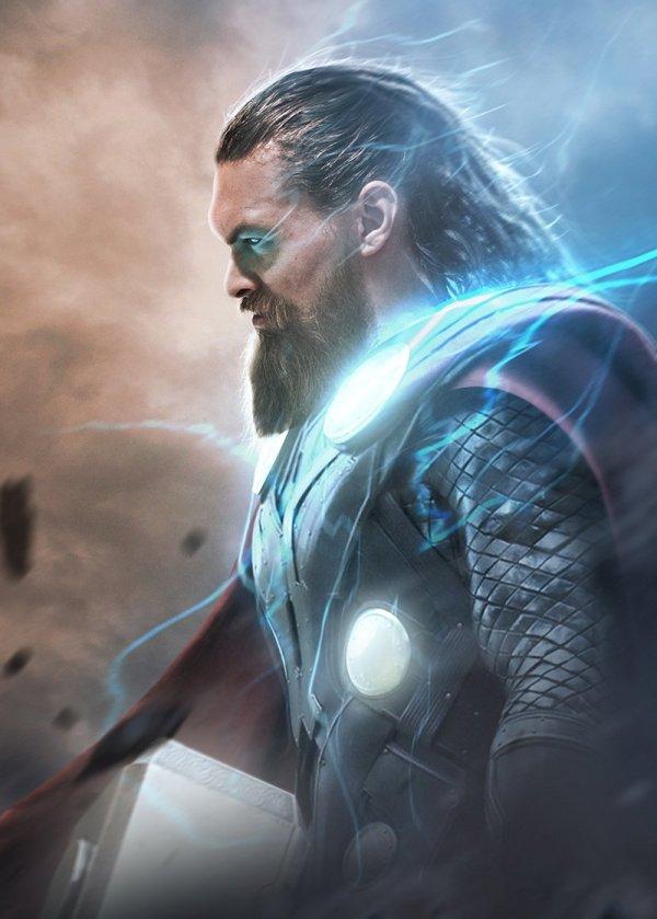 Jason Momoa est Thor, par Bosslogic