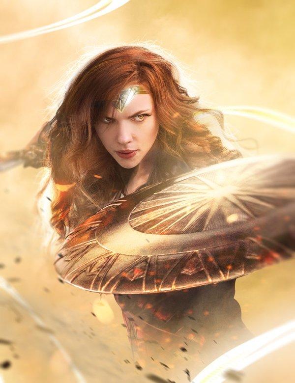 Scarlett Johansson est Wonder Woman, par Bosslogic