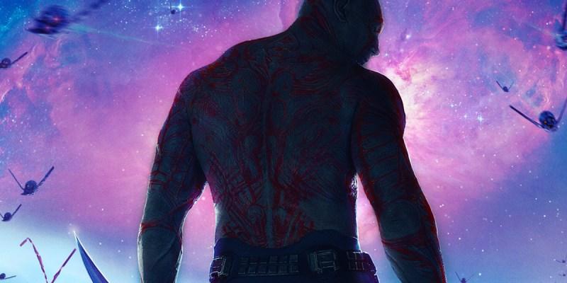 Dave Bautista dans le rôle de Drax dans les Gardiens de la Galaxie