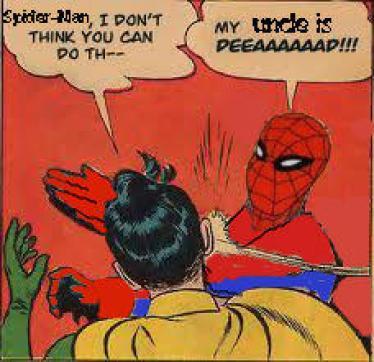 20 mèmes Batman gifle Robin. Ici, c'est Spiderman qui s'en charge.