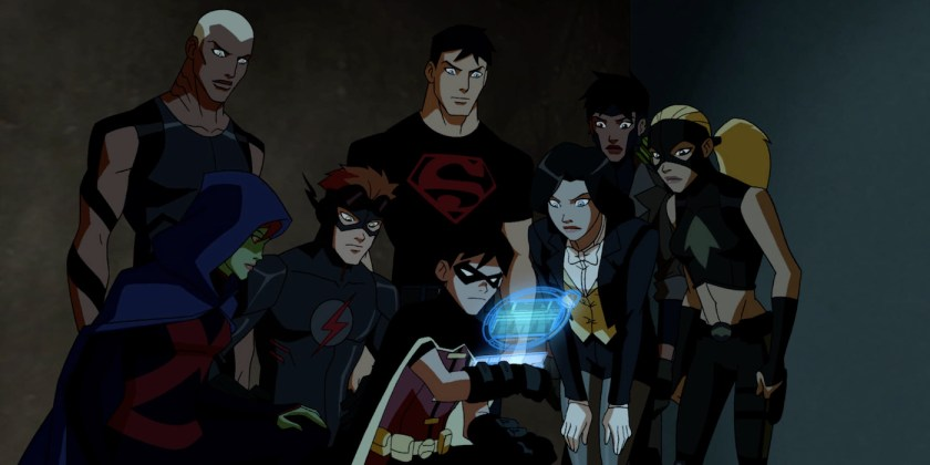 Aqualad-Robin-Kid-Flash-Artemis-Miss-Martian-Superboy-Rocket-and-Zatanna-in-Young-Justice-Episode-Auld-Acquaintance-
