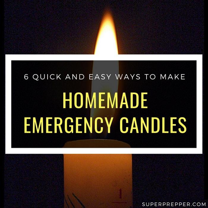6 Ways to Make Homemade Emergency Candles ⋆ SuperPrepper com