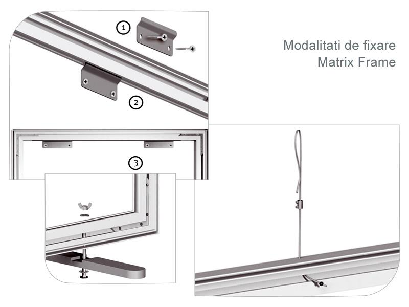 Matrix Frame - Modalitati de fixare