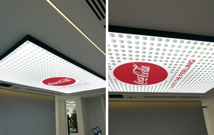 Tavan Textil Iluminat - Coca Cola