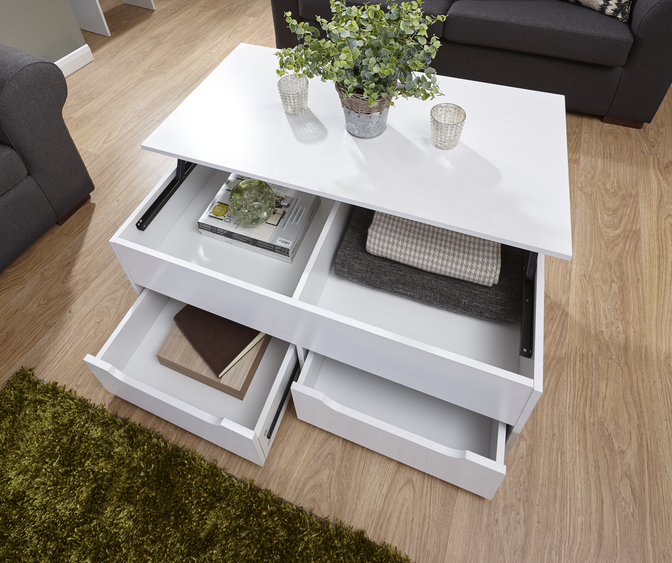 details about new ultimate storage coffee table living room in oak white walnut espresso