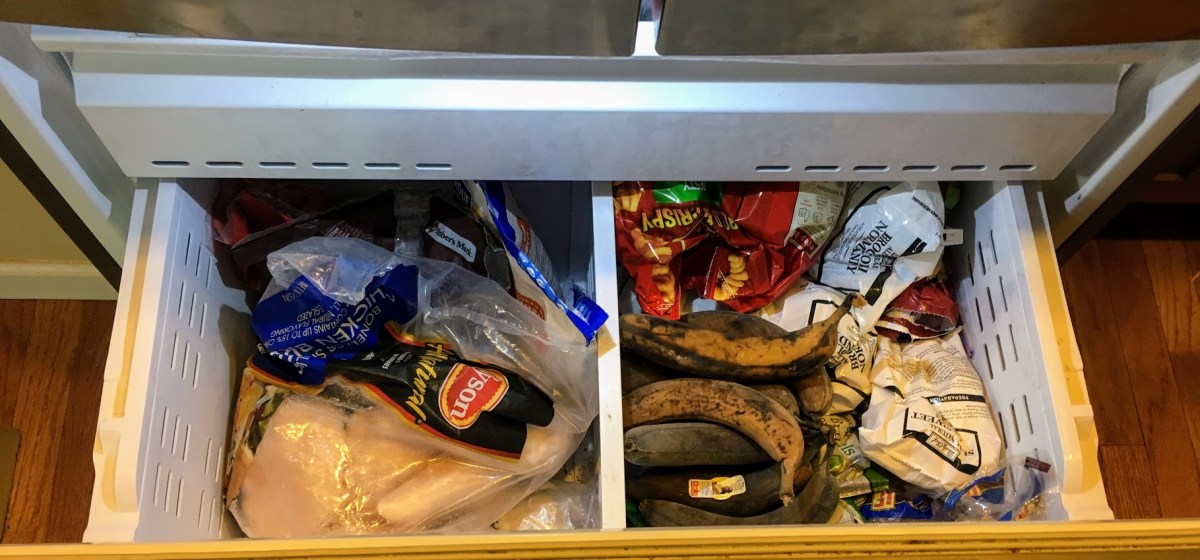 indoor freezer bottom drawer