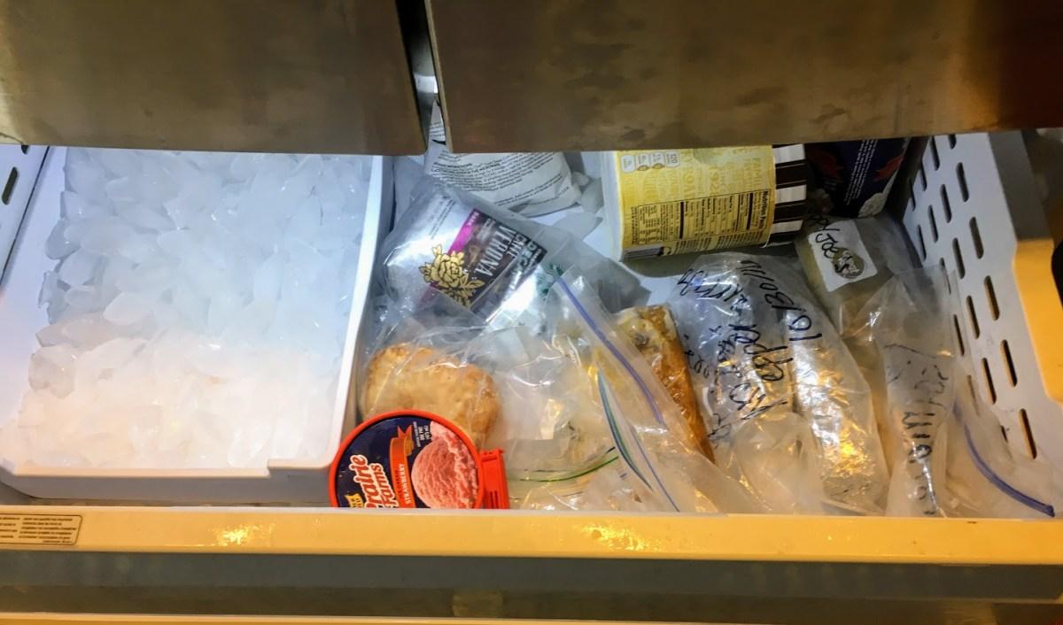 indoor freezer top drawer