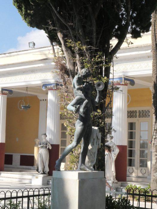 Statue in Achillion garden