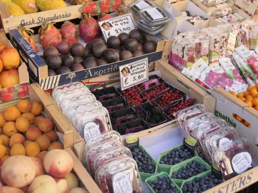 Fruit and vegetable market; Corfu