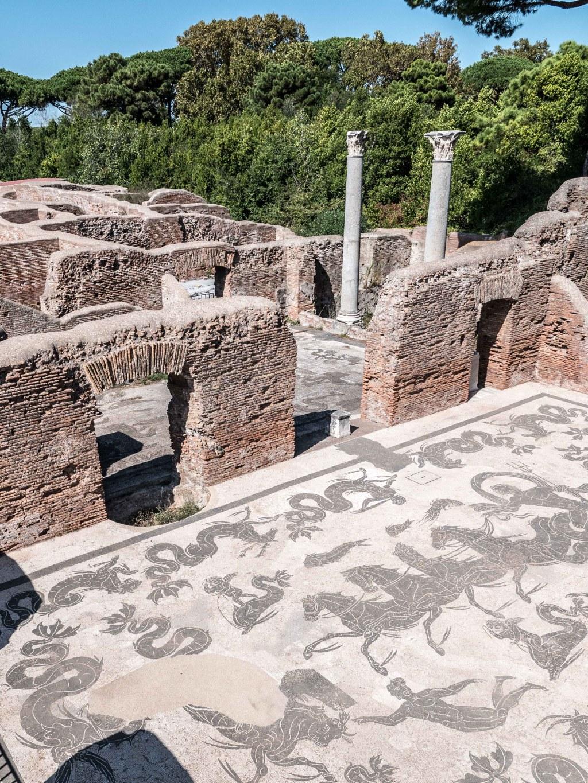Tile Floor in the Baths of Neptune