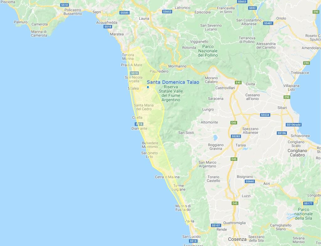 Riviera dei Cedri Map