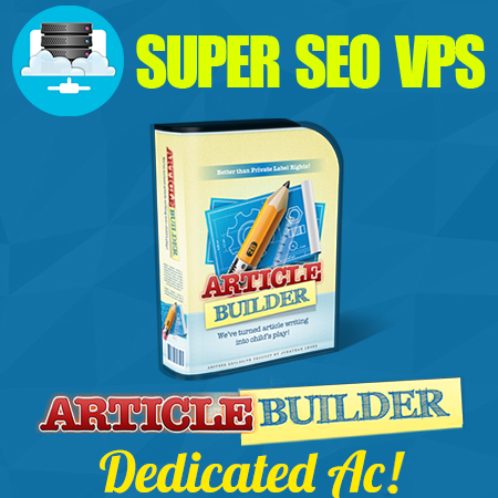 Article Builder Dedicated Account