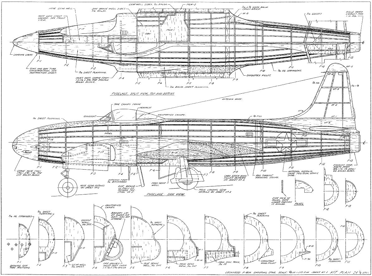 135 Jetex Model Airplane Plans Scale Templates Jets