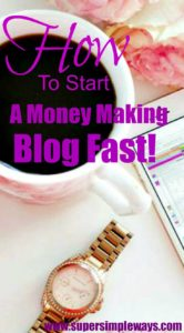 Start a Blog Fast