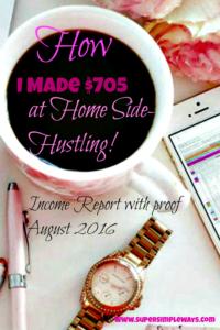 Income Report- $705.00